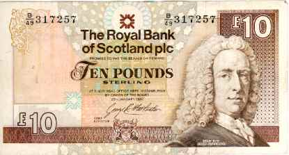 Graphic showing Ten Pounds