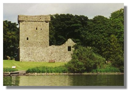 Island Loch Leven Loch Leven Castle Kinross