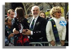 Sean Connery, tartan Day 2002