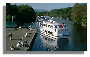 Cruise ship at Balloch