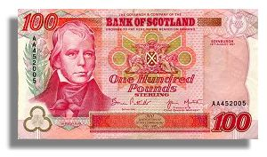 Bank of Scotland £100