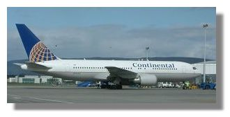 Continental Airlines Boeing 767 N76153
