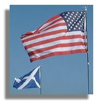 US and Scottish Flags