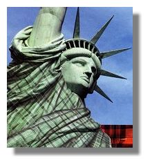 Statue of Liberty in Tartan