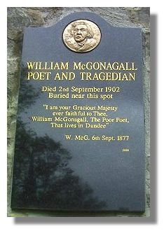 McGonagall memorial, Greyfriars Churchyard, Edinburgh