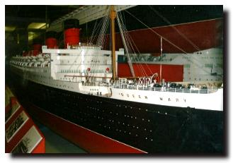 Model of ss Queen Mary