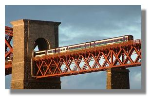 Scotrail Commuter Train on Forth Rail Bridge