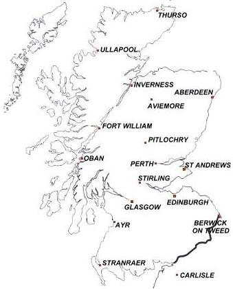 Did You Know Scotland Map And Distance Table